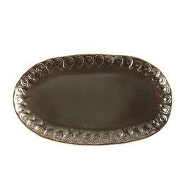 Vietri Vietri Incanto INC-1124-M Metallic Curl Small Oval Platter