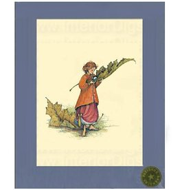 Patience Brewster Cards Girl with Leaf Limited Edition Print 11x14