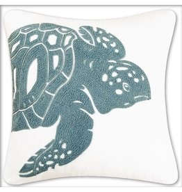 C & F Enterprises Accent Pillow Sea Turtle Square Rice Stitch PIllow 18x18