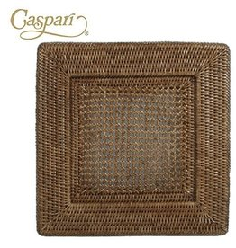 Caspari Rattan Chargers HDP02 Square Charger