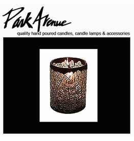 Park Avenue Candles Cathedral Glass Votive Candle Holder Gray 6H