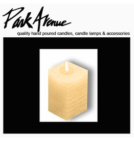 Park Avenue Candles Textured Square Candle Champagne 6x4