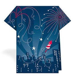Patriotic Napkins TN10-125 Fireworks-Blue