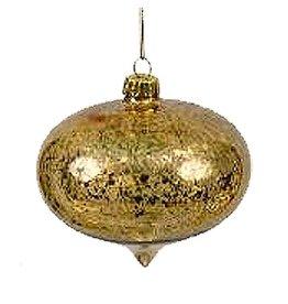 Winward Christmas Ornament Mercury Glass Onion Shape Gold