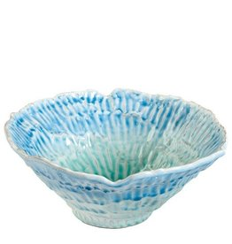 Vietri Organica ORG-1131 Ocean Blue Aqua Medium Round Bowl