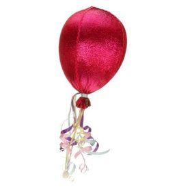 Mark Roberts Stylish Home Decor Decorative Balloon with Ribbon 18H Red
