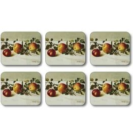 Jason Still Life Apples Coasters Set of 6 D2288