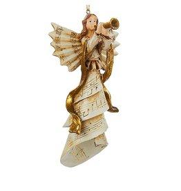 Kurt Adler Christmas Ornament Angel Playing Musical Instrument TRUMPET