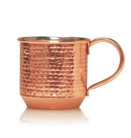 Thymes Simmered Cider Poured Candle 10oz in Hammered Copper Mug