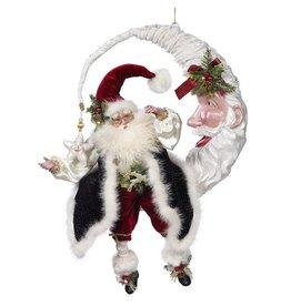 Mark Roberts Fairies Santas Santa on Moon 51-68368 18x13 inches