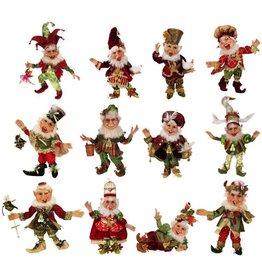 Mark Roberts Fairies Elves Twelve Days of Christmas Elf Set of 12 Sm 51-68230