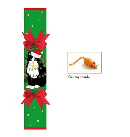 Caspari Christmas Crackers for Pets-Cat Pet Favor CK071.PF Christmas Cat