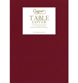 Caspari Caspari Table Cover Airlaid Paper Linen Tablecloth 62x98 Inch-Cranberry