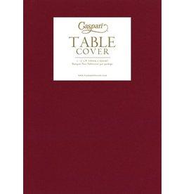 Caspari Caspari Table Cover Airlaid Paper Linen Tablecloth 62x98 Inch-Cranberry