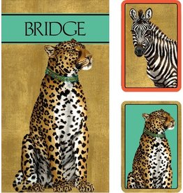 Caspari Bridge Gift Set w 2 Card Decks 2 Score Pads Wild Cards GS116 Caspari