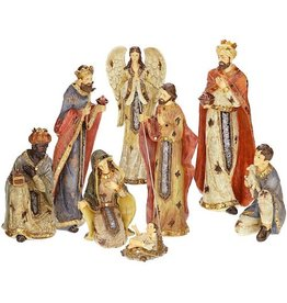 Mark Roberts Christmas Decorations Nativities 8pc Byzantine Nativity