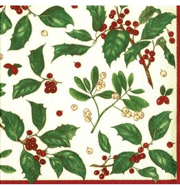 Caspari Paper Napkins Holiday Greens Christmas Dinner Napkins