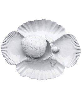 Vietri Incanto Mare IMA-1140T White Turtle Antipasti Server