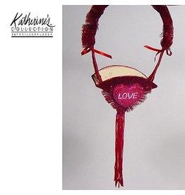Katherine's Collection Valentines Gifts Decor 05-14033 Love Frog Funnel Basket