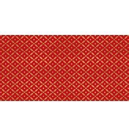 Caspari Christmas Money Cards 86703 Diamond Brocade Red Pack of 4