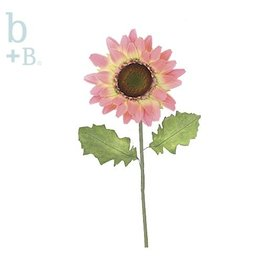 Burton and Burton Flowers   Spring Decorations 9713209F Light Pink Silk Gerbera Daisy