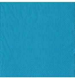 Caspari Paper Cocktail Napkins 20ct 8603C Grosgrain Turquoise