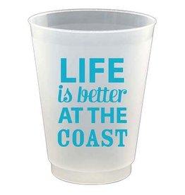 Slant Plastic Flex Cups 16oz 8pk F132192 Life is Better at Coast