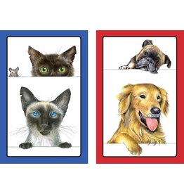 Caspari Playing Cards 2 Decks of Dogs and Cats Bridge Cards PC119 Caspari