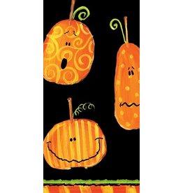Caspari Paper Facial Tissues Halloween Pumpkins Hankies 6560M