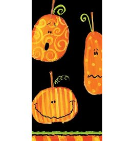 Caspari Paper Facial Tissues Holloween Pumpkins Hankies 6560M
