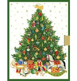 Caspari Paper Gift Box w Sliding Tray Food Grade 2pk Oh Christmas Tree