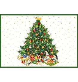 Caspari Paper Gift Box w LiftOut Tray Food Grade 2pk Oh Christmas Tree