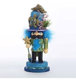 Kurt Adler Hollywood Christmas Nutcracker w Sea Turtle Hat HA0137