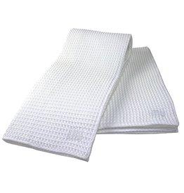 MUkitchen Microfiber Waffle Kitchen Towels 2pk 17x25.5 6648-0901 White
