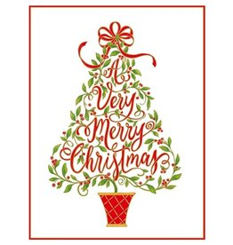 Caspari Christmas Cards 10pk A Very Merry Christmas | Caspari