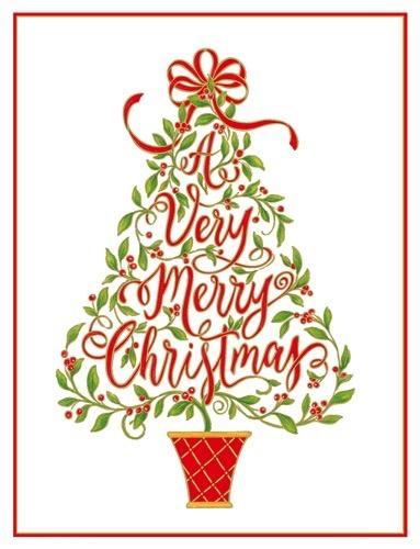 caspari christmas cards 10pk a very merry christmas caspari - Caspari Christmas Cards