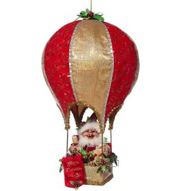 Mark Roberts Fairies Elves 51-68404 Northpole Elf in Air Balloon 23 inch