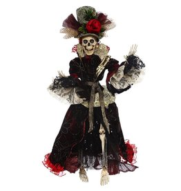 Mark Roberts Fairies Halloween Skeletons 51-68160 Mrs Fashion Skeleton 22 inch