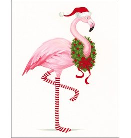 Caspari Gift Card Holders 4pk 9682ENC Christmas Flamingo Gift Enclosure