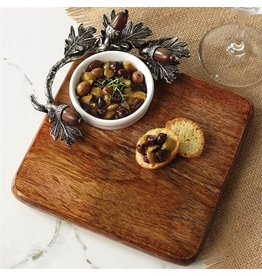 Mud Pie Acorn Cutting Board and Dip Set Fall Thanksgiving Christmas by Mud Pie