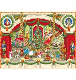 Caspari Chirstmas Gift Bag Caspari 9667B1 Christmas Ballet SM