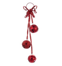 Kurt Adler Red Jingle Bell Door Hanger Door Decoration  Christmas