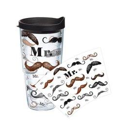 Tervis Tumbler w Lid 24oz 1099660 Mr Mustache