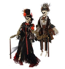 Mark Roberts Fairies Halloween Skeletons 51-68174 Mr Mrs Haute Couture 31 inch