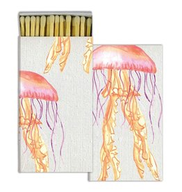HomArt California Design House Decorative Match Box with Jellyfish