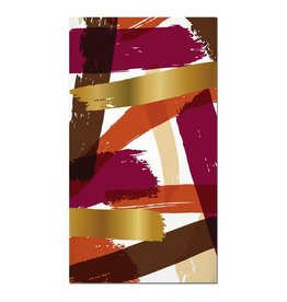 Slant Thanksgiving-Fall Paper Guest Towels 16pk F149272 Foil Brush Strokes