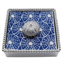 Mariposa Mariposa Napkin Box Wieght Set 4028-C Sea Urchin Beaded Napkin Box