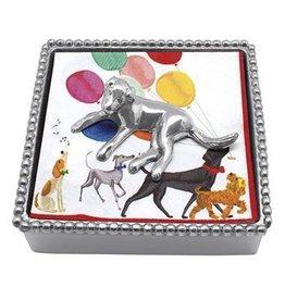 Mariposa Napkin Box Wieght Set 2747-C Labrador Beaded Napkin Box
