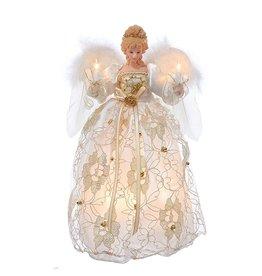 Kurt Adler Christmas Angel Tree Topper 10 Light 12 inch Gold UL2214 Kurt Adler