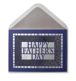 Papyrus Greetings Fathers Day Card Laser Cut Lettering by Papyrus